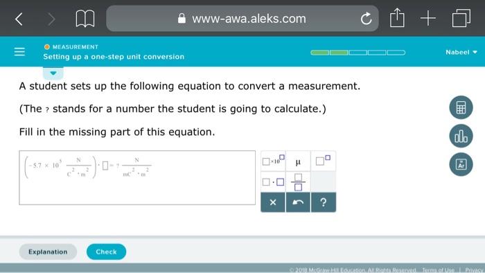 A Www Awa Aleks O Measurement Setting Up One Step