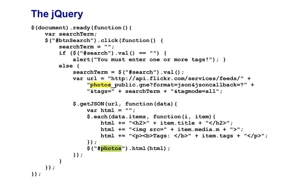 Solved: 1) When You Use Ajax To Get Data For A Web Page Fr