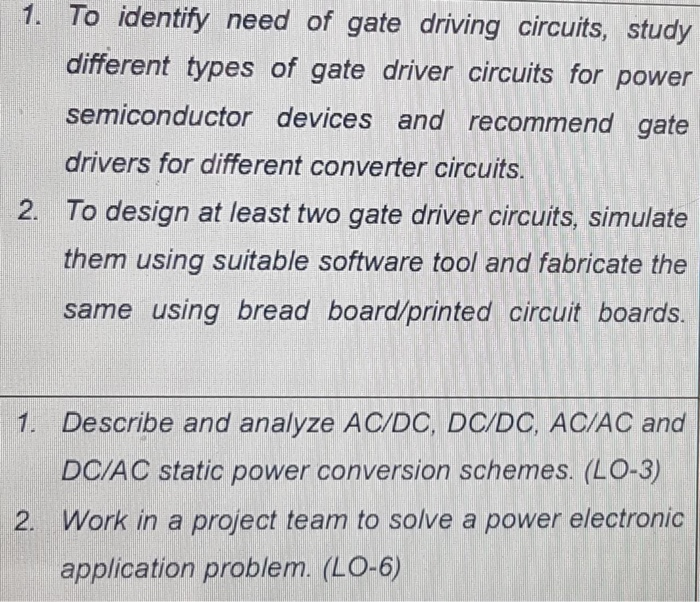 Solved: 1  To Identify Need Of Gate Driving Circuits, Stud