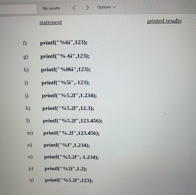 Solved Format Codes 90 0 M N F 9 Precedes Print Forma