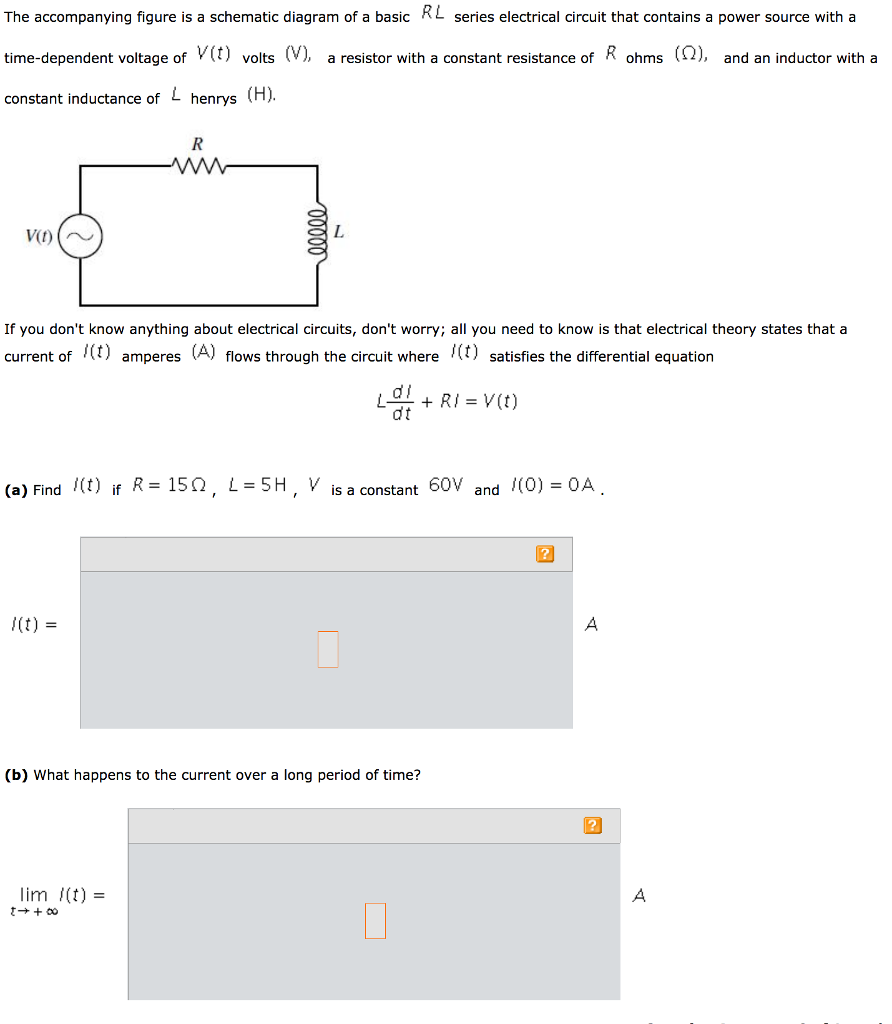 solved rl series electrical circuit that contains a power rh chegg com