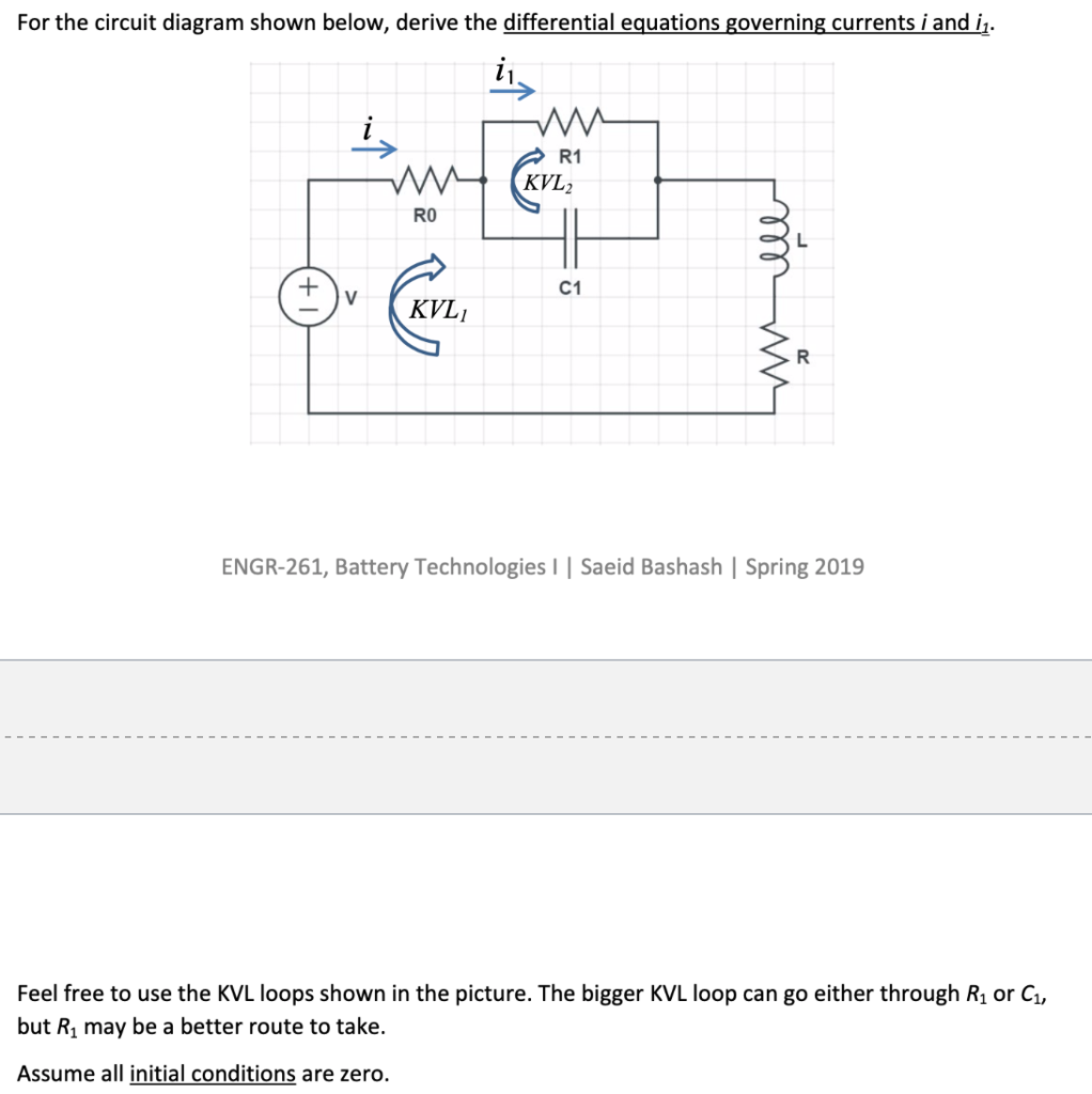 Wiring Diagram For Pioneer Radio, For The Circuit Diagram Shown Below Derive The Differential Equations Governing Currents I And I, Wiring Diagram For Pioneer Radio