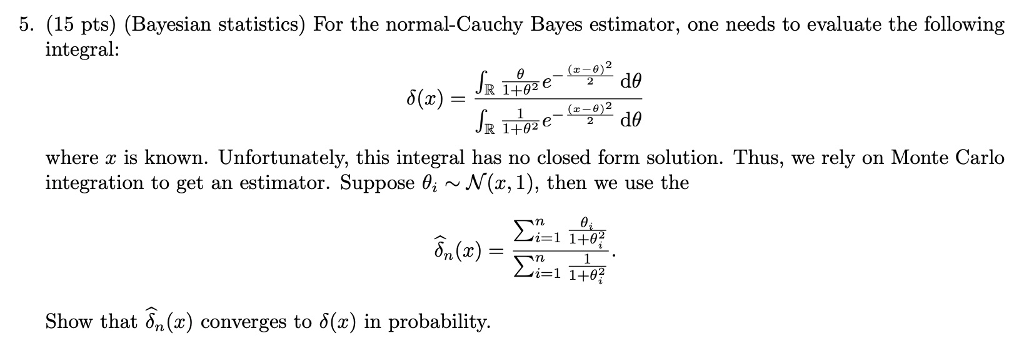 5 15 Pts Bayesian Statistics For The Normal C Chegg Com