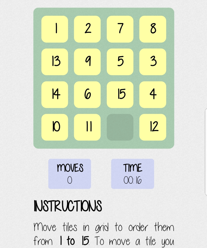 1) Create A 15-Puzzle Game With GUI In Python Usin