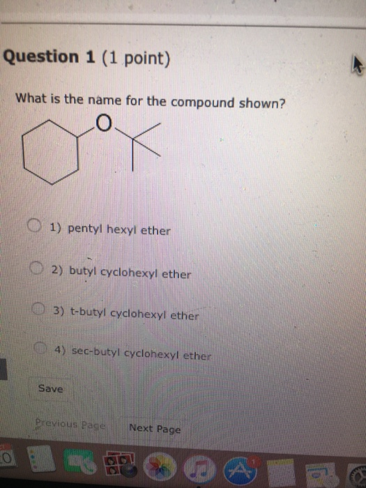 Solved Question 1 1 Point What Is The Name For The Comp