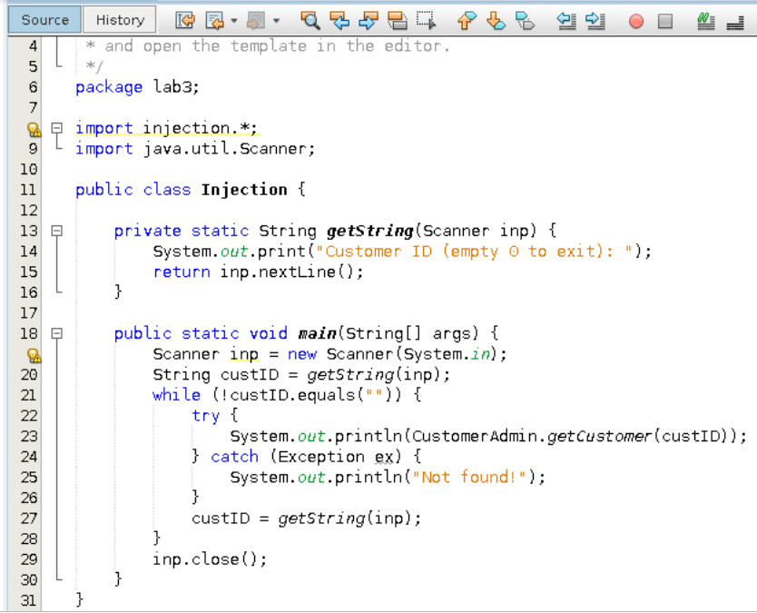 Java Programming: What Makes The Following Code No