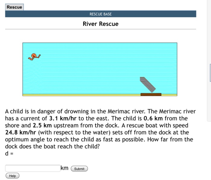 Rescue Rescue Base River Rescue A Child Is In Danger Of Drowning In The Merimac River
