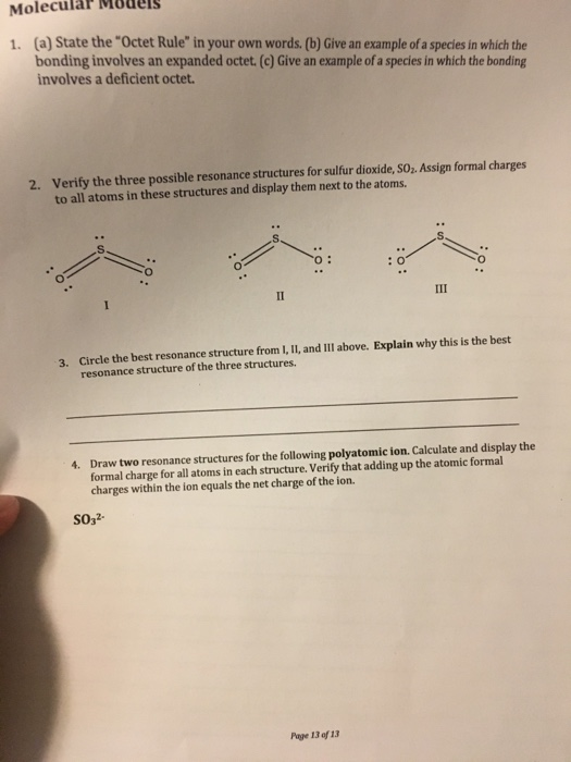 Solved A State The Octet Rule In Your Own Words B