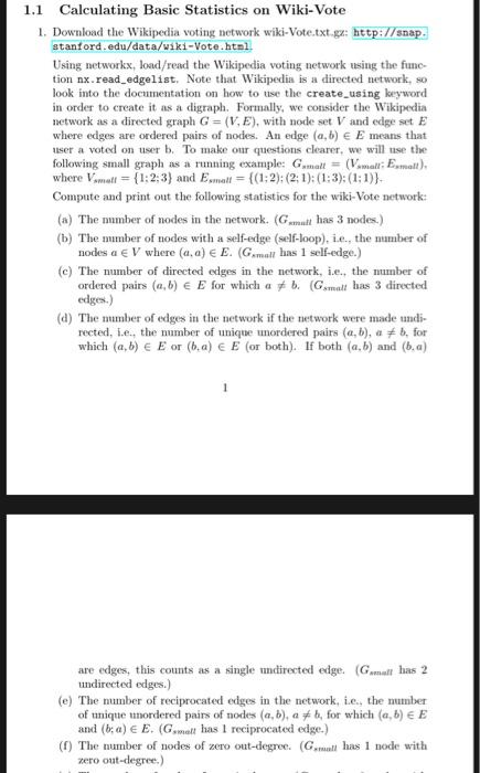 1 1 Calculating Basic Statistics On Wiki-Vote   Do