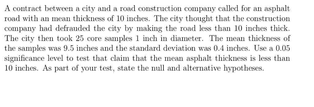 Solved: A Contract Between A City And A Road Construction