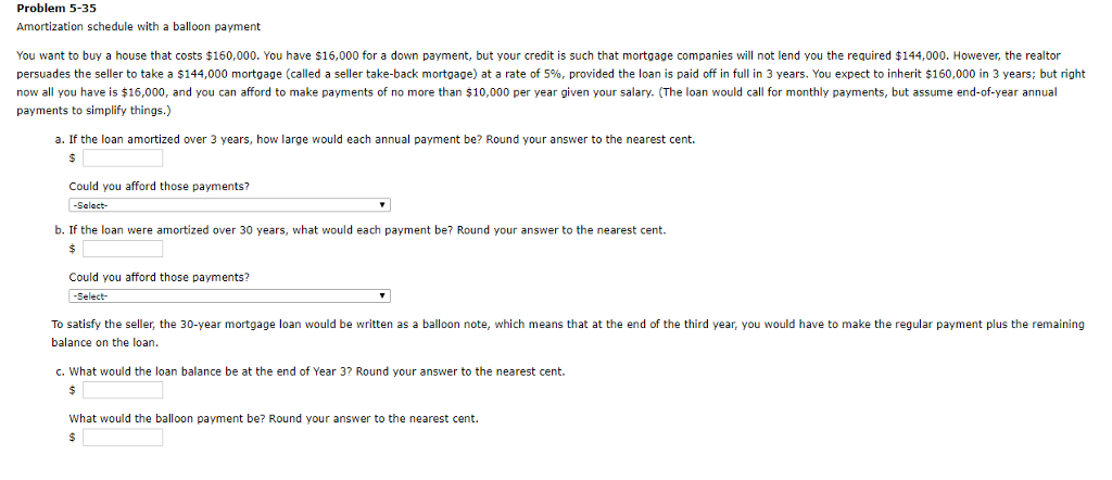 mortgage amortization calculator with balloon payment