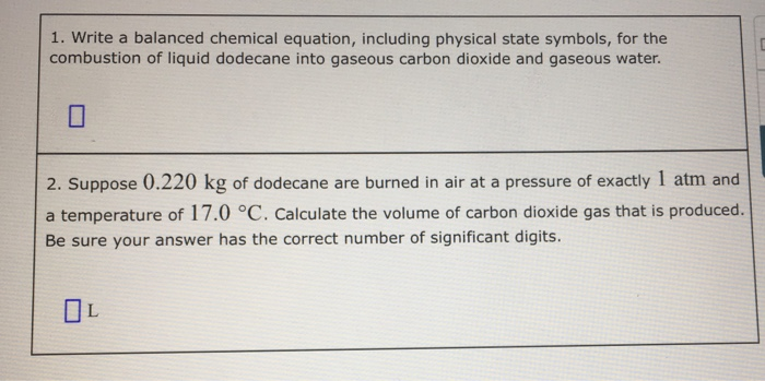 Solved Write A Balanced Chemical Equation Including Phys