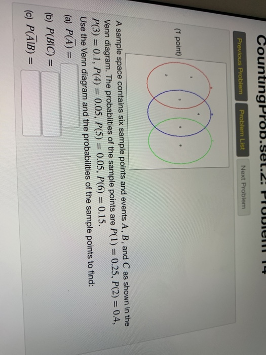 Solved  Countingprob Set 2  Problem Previous Problenm Prob