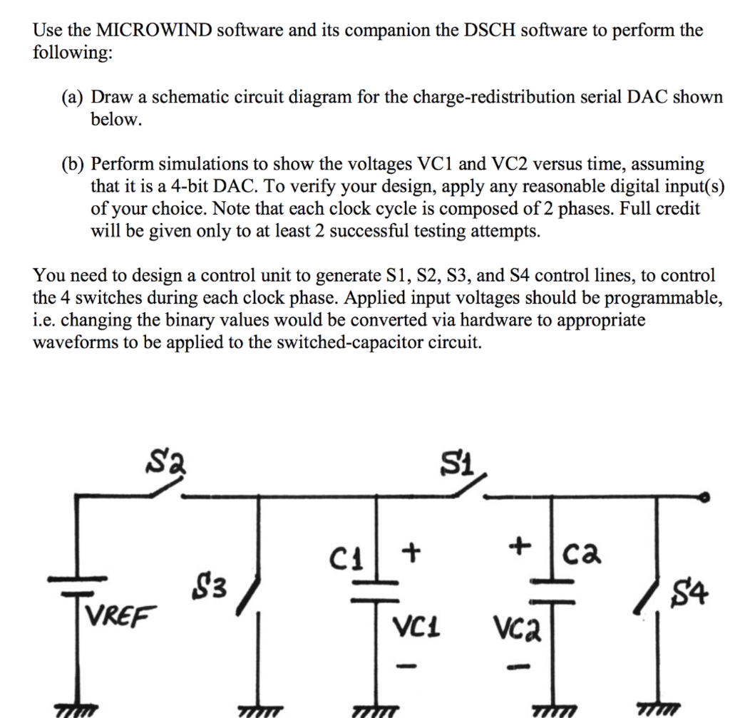 Solved Use The Microwind Software And Its Companion D To Draw Circuit Question Dsch Perform Following A