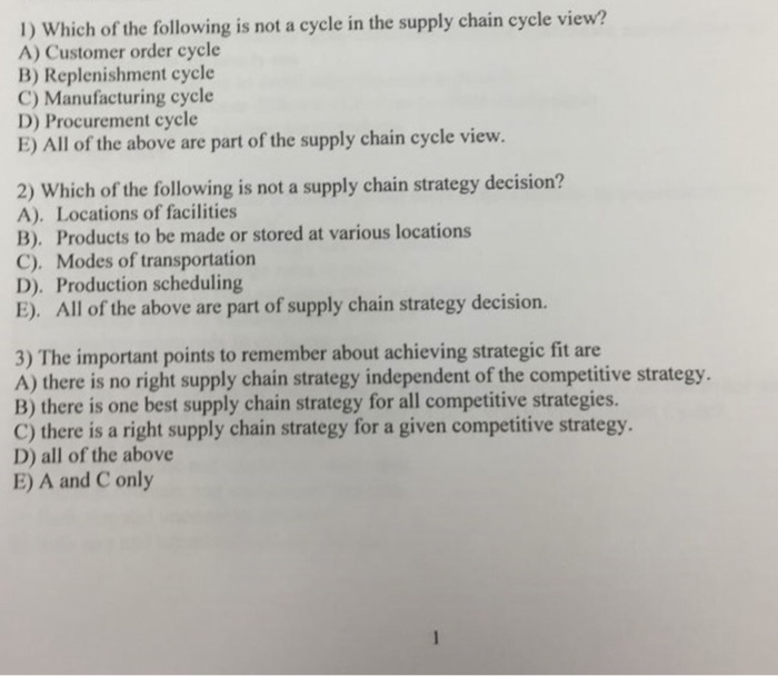 Solved: 1) Which Of The Following Is Not A Cycle In The Su
