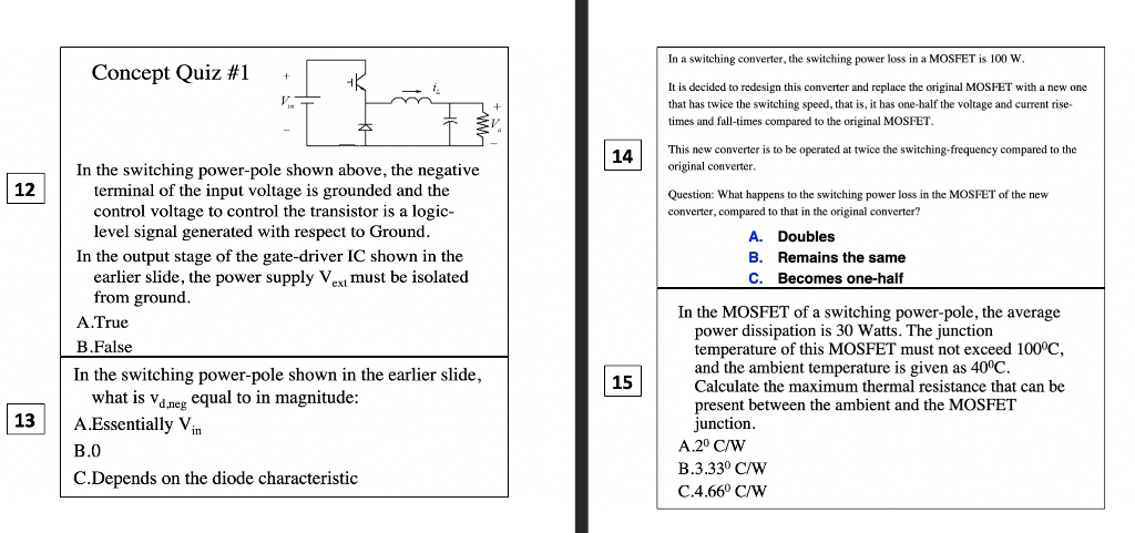 Solved: In A Switching Converter, The Switching Power Loss
