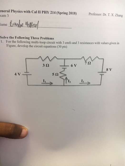 Solved: Eneral Physics With Cal II PHY 214 (Spring 2018) A ...