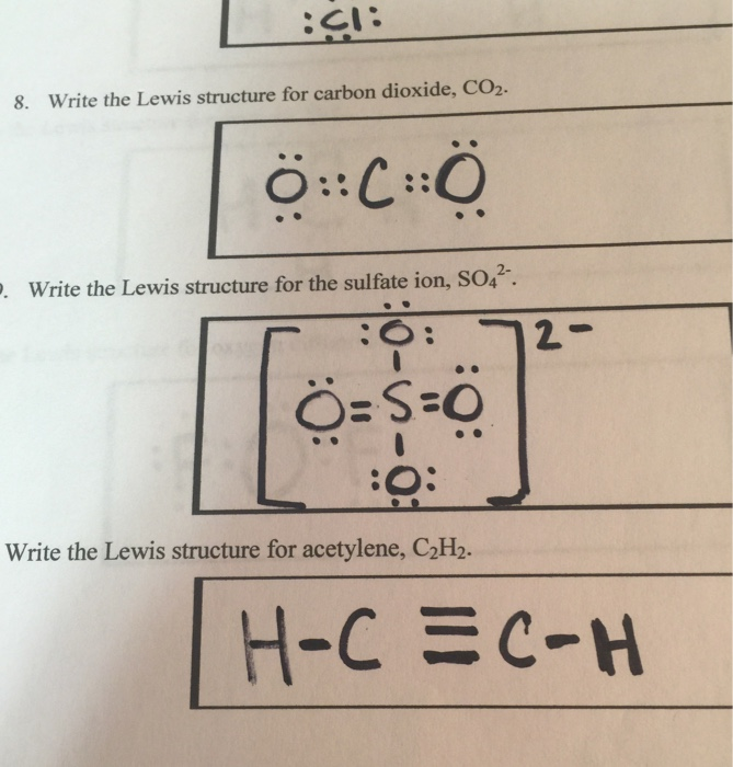 Solved   Ci  8  Write The Lewis Structure For Carbon Dioxi