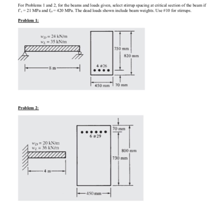 Solved: For Problems 1 And 2, For The Beams And Loads Give