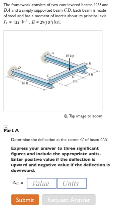 Solved: The Framework Consists Of Two Cantilevered Beams C
