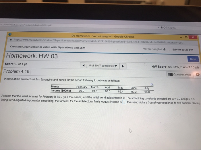 Solved: Do Homework - Veroni Sanghvi - Google Chrome Https