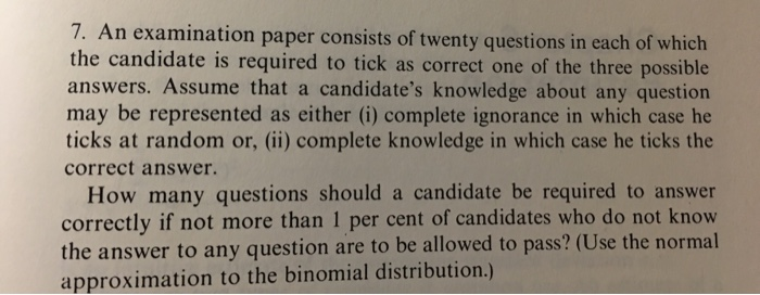 Solved: An Examination Paper Consists Of Twenty Questions