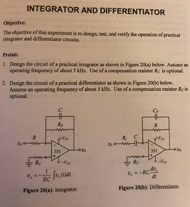 The Practical Differentiator Circuit Design A Prac Cheggcom