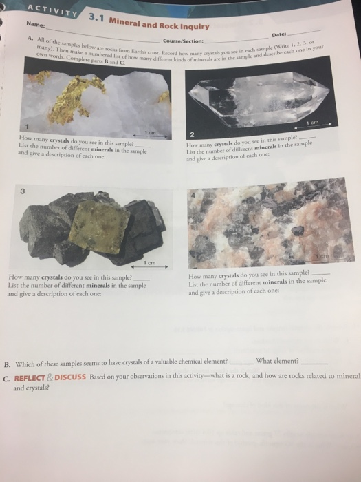 ACTIVITY Name: 3 1 Mineral And Rock Inquiry A  All