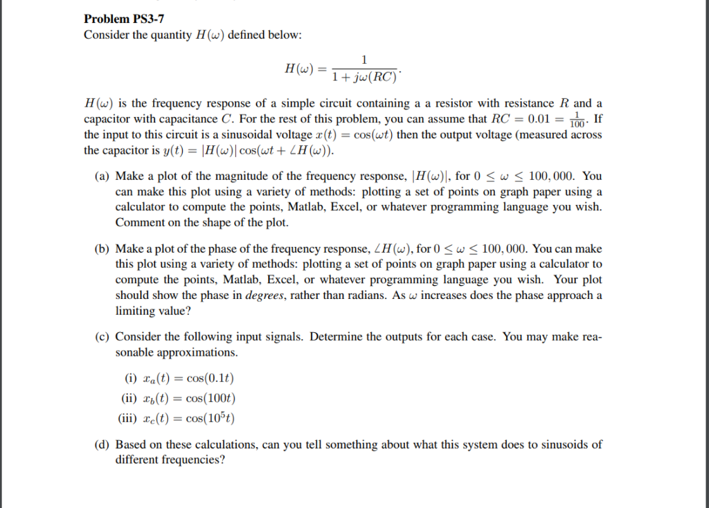 Solved: Problem PS3-7 Consider The Quantity H() Defined Be