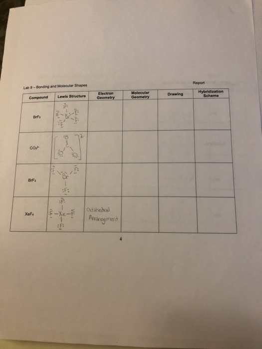 Solved: Draw The Lewis Structure Name The Electron Geometr