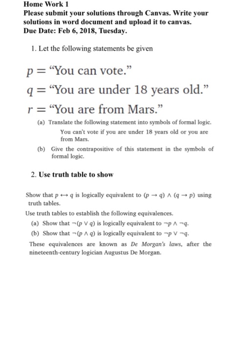 Solved Home Work 1 Please Submit Your Solutions Through C