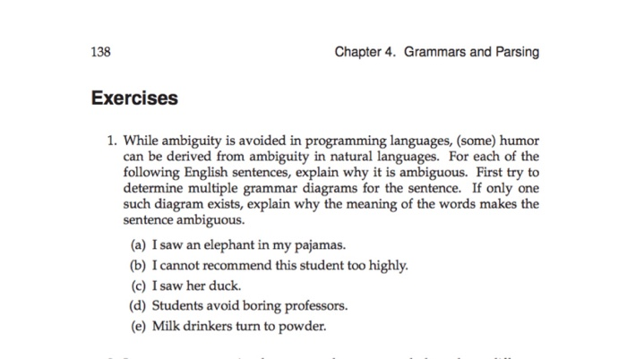 Solved 138 Chapter 4 Grammars And Parsing Exercises 1 W