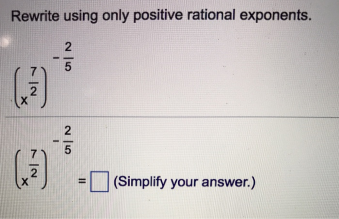 Rewriting rational exponents math fractional exponents math.