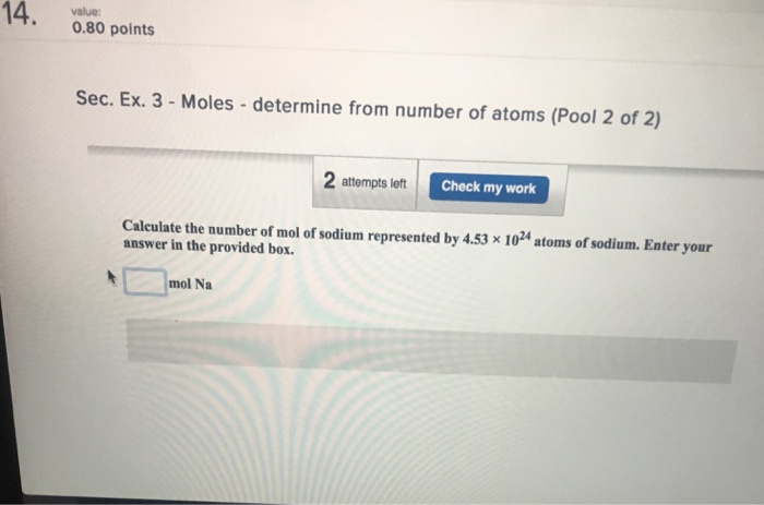 Chemistry archive march 05 2018 chegg 1 answer 14080 points sec ex 3 moles determine from number of fandeluxe Choice Image