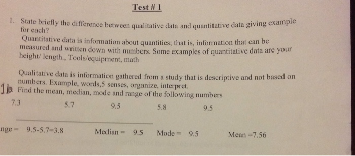 Solved State Briefly The Difference Between Qualitative D