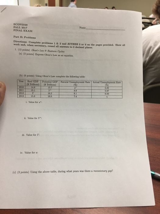 econ2101 final exam s1 2011 Closed book 50 questions 45 minutes be sure to read the question carefully no points are deducted for wrong answers, so answer every question.