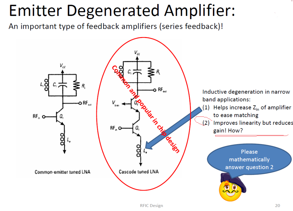Emitter Degenerated Amplifier: An Important Type O