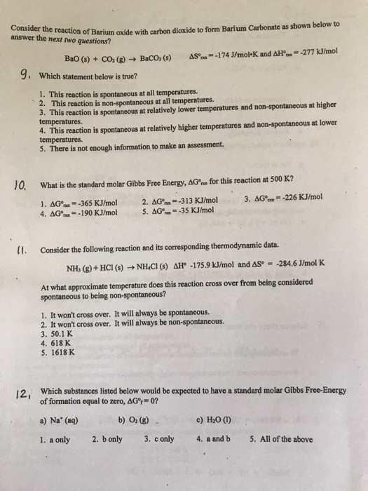 Solved: Answer The Next Two Questions? Of Barium Oxide Wit