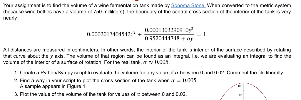 Your Assignment Is To Find The Volume Of A Wine Fe    | Chegg com