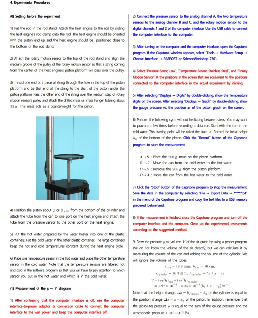 Solved  Heat Engine Lab Experiment  Questions   1  Find Th