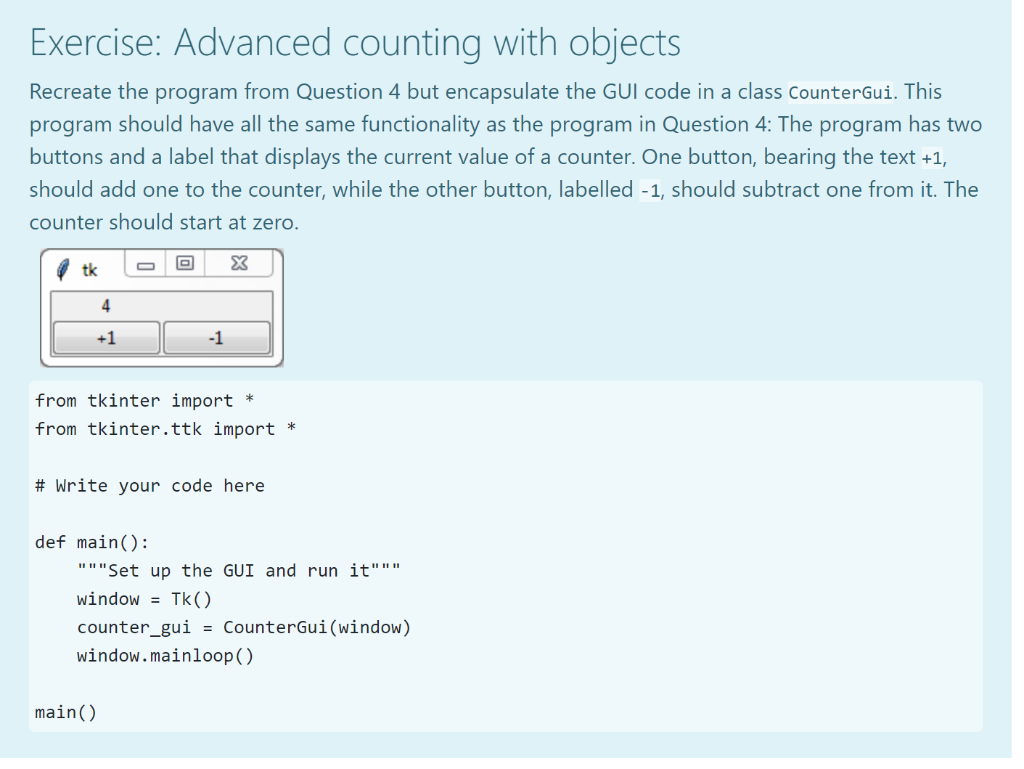 Solved: Exercise: Advanced Counting With Objects Recreate