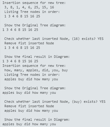 insertion sequence for new tree: 3, 8, 1, 4, 6,