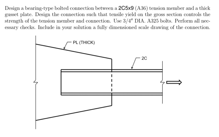 Solved: Design A Bearing-type Bolted Connection Between A