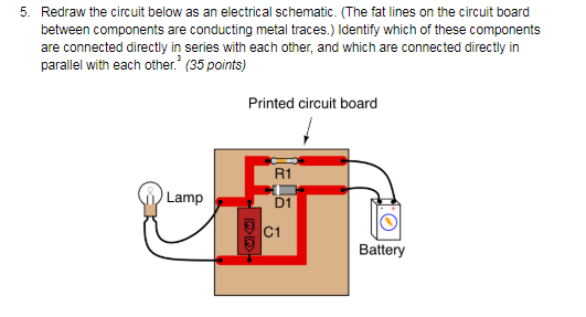 solved redraw the circuit below as an electrical schemati