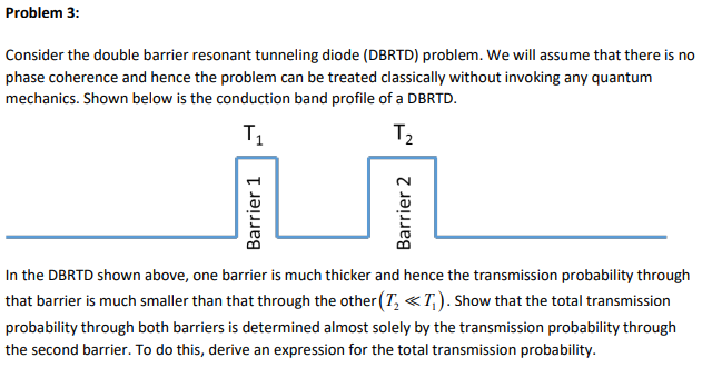 Solved: A) Show That The Total Transmission Probability Th