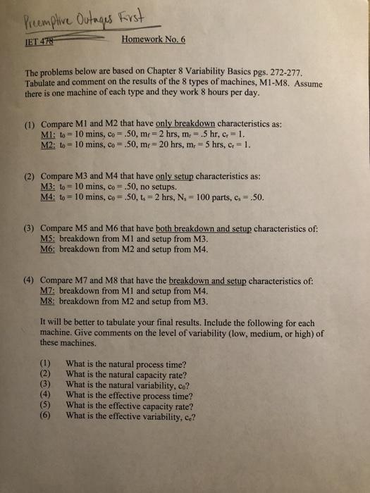 Temptive Ou Homework No  6 The Problems Below Are       Chegg com