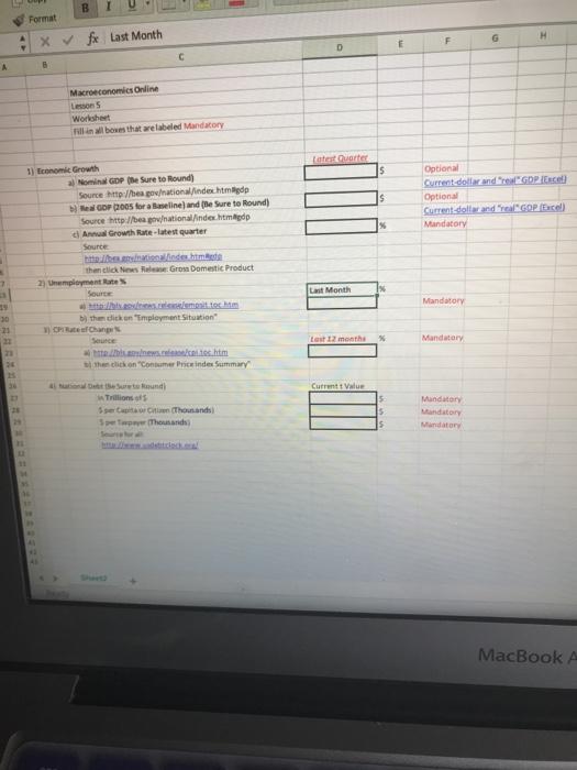 Solved Format F Last Month Lesson 5 Worksheet Fil