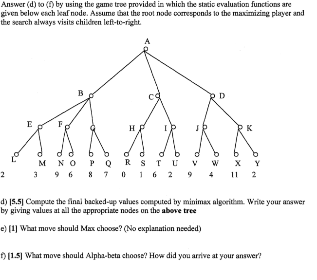 Solved Answer D To F By Using The Game Tree Provided