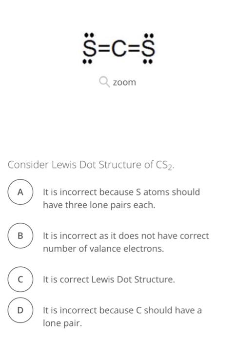 Cs2 Lewis Dot Structure