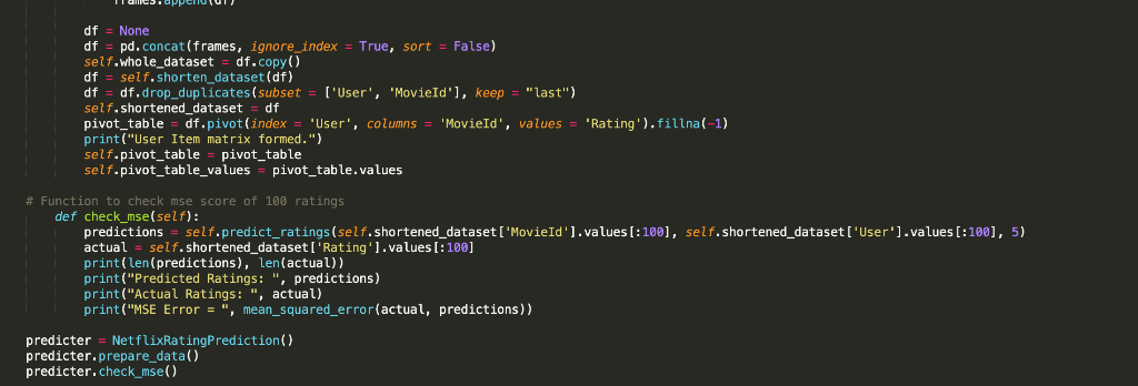 Class NetflixRatingPrediction: # Initialising A Cl